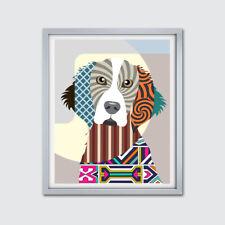 Art Welsh Springer Spaniel Dog Poster Animal Lover Print Pet Portrait Painting