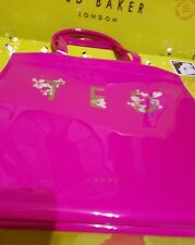 💖Ted Baker Large Bright Pink Fuchsia Harmony Floral Shopper Tote Bag 💖