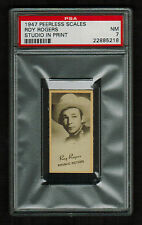 PSA 7 ROY ROGERS 1947 Peerless Scales Movie Star Card from J.C. PENNEY STORE