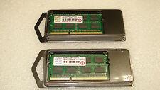 2 Transcend 8GB (2x4GB) 2Rx8 DDR3 1333 SO Laptop Memory