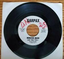 "Vtg 45 Bobby ""Boris"" Pickett & The Crypt-Kickers Monster Mash Garpax 44167 '62"