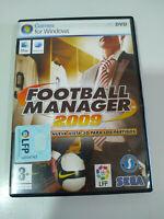 Football Manager 2009 Sega - Set For PC Dvd-rom