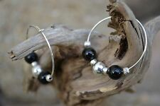 Handmade earrings with Sterling Silver & Black Onyx.
