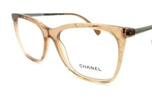 Chanel 3379 Eyeglasses Transparent Light Brown Ruthenium 1090 Authentic 54mm