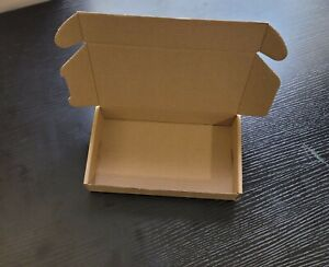 """Lot of 10 Brown Corrugated Shipping Mailer Packing Box 8""""x4""""x1.5"""" (20x10x4 cm)"""