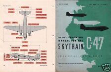 Douglas C-47 DC-3 HISTORIC MANUALS RARE DETAILED ARCHIVES WW2 1940's Set