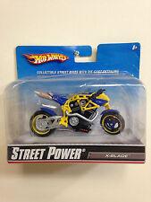 2009 STREET POWER X-BLADE DIECAST REPLICA MOTORCYCLE BY HOT WHEELS 1:18 NIB