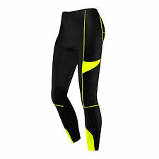 Ladies Compression Tights Base Layer Running Yoga Body Armour Gym Fit Trousers Black Large