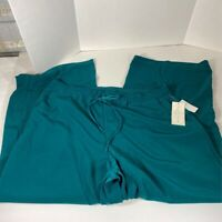 French Laundry Womens Lounge Pants Teal Drawstring Pockets Plus 1X New