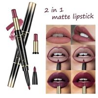Pudaier Matte Lipstick Wateproof Double Ended Lasting Makeup Lip Liner Pencil