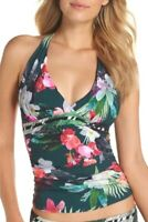 NWT La Blanca Halter Tankini Top Swim Tank Jungle Goddess Floral 6
