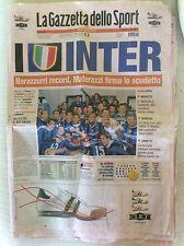 INTER F.C. CALCIO SCUDETTO N° 15 2006/2007 GAZZETTA DELLO SPORT CELEBRATIVA