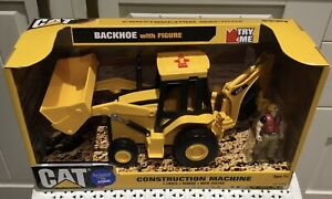 CAT Backhoe with Figure (Construction Machine with Lights, Sounds, Brand New.