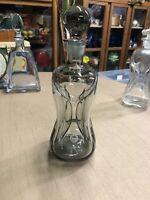 Vintage Holmegaard Denmark Jacob Bang Smoked Glass 'Kluk Kluk' Bottle Decanter