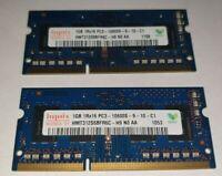 HYNIX 2x 1GB= 2GB RAM MEMORY DDR3 - 1Rx16 PC3-10600S-9-10-A1 hmt312s6bfr6c- ECO