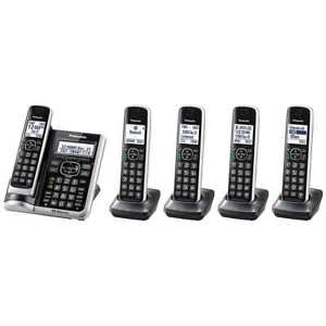 Panasonic KX-TGF675S Bluetooth Cordless Phone with Voice Assist - 5 Handsets