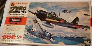 """Mitsubishi A6M3 Type 22 '""""zero"""" Kit Montaggio Aerei HASEGAWA 1/72."""