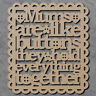 Mums Are Like Buttons Sign - Wooden Mothers Day Sign / Laser Cut mdf Craft