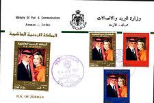 KING HUSSEIN 62nd BIRTHDAY SET & S/S 1997 JORDAN FDC