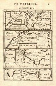 NORTH AFRICA. Morocco Tunisia Libya. 'Mauritanie'. Malta Melita. MALLET 1683 map