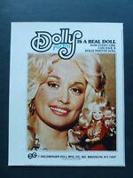 Vtg 1978 Advertisement – Dolly Parton Goldberger Doll Ad 1970's Ad
