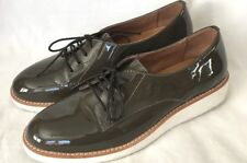 Mode Kaori Patent Leather Olive Color Women's Size 7.5 Olive Lace Up Shoes