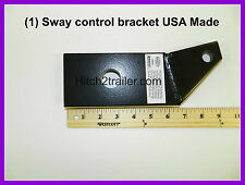 (1) Ball Mount Sway Control Bracket Towing Trailers RV Camper USA MADE