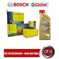 KIT TAGLIANDO OLIO CASTROL EDGE LL 5W30 5LT 4 FILTRI BOSCH VW GOLF 5 V 1.9 TDI