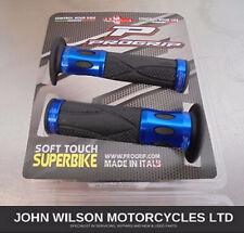 Honda CBF125 CBR125 CBR125R CB125F Blue Aluminium Handlebar Soft Grips