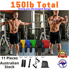 【Top Quality】11Pc Set - [Qld Stock] Resistance Bands Home Gym Fitness Yoga