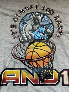 And1 It's Almost Too Easy Men's XL Graphic T-Shirt