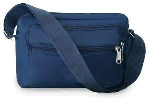 Ladies Navy Cross Body Travel Bags Nylon Messenger Multi Pocket Shoulder Bag