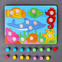 Children Wooden Toy Cartoon Puzzle Jigsaw Toy Learning Kid Early Educational Toy