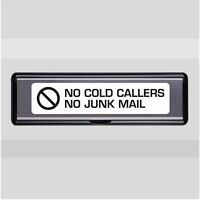 Letter Plate Box NO COLD CALLERS NO JUNK MAIL VINYL STICKER DECAL