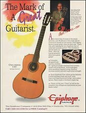 The Chet Atkins CEA Epiphone acoustic guitar ad 8 x 11 advertisement print