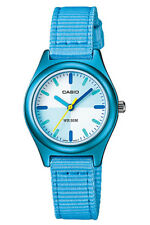 Casio New LTR-16B-2E Blue Kids Watch Colorful Cloth Band Aluminum Case LTR-16