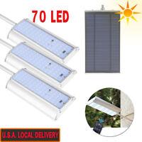 70 LED Solar Motion Sensor Light Outdoor Garden Path Street Wall Lamp Waterproof