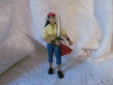 """Pirate Fantasy Action Figure 3.75"""" Early Learning Center ELC Female with Sword"""