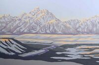 "Paul Waldum ""Snake River"" Original Art Serigraph blue winter snow LE MAKE OFFER!"