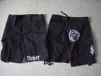 SLIPKNOT LOGO VINTAGE CARGO SHORTS NEW OFFICIAL METAL IOWA ALL HOPE IS GONE