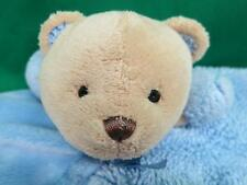 BABY BOY BLUE CARTER'S BEAR SECURITY BLANKET RATTLE PLUSH SOFT TEDDY CRIB LOVEY