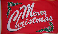 NEW 3x5ft RED MERRY CHRISTMAS DECORATION YARD DECOR FLAG better quality usa sell