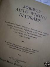 Vintage Auto Wiring Diagrams - 1920 to 1928 Cars Truck