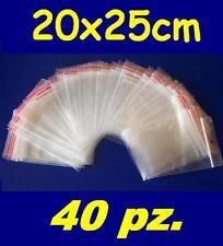 20x25 cm buste bustine zip plastica SACCHETTI 40 pz.