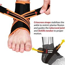 Neoprene Ankle Support Foot Brace Guard Sports Shin Protector Feet MMA Yellow