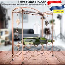 2in1 Le fer Casier à vin étagère Organisateur de stockage bouteille porte-verre