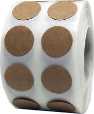 Brown Kraft Circle Dot Stickers, 1/2 Inch Round, 1000 Labels on a Roll