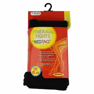 Red Tag Childrens Thermal Footless Tights 46B190