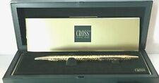 CROSS - VeRy RaRe - Century Jewelers Ballpoint Pen - GOLD TAPESTRY - Brand New