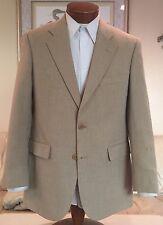 NEW Brooks Brothers Mens 2 Btn Beige Wool Silk Linen Blazer Sz 38 39 40 R